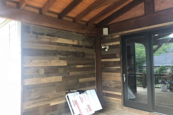decking on wall