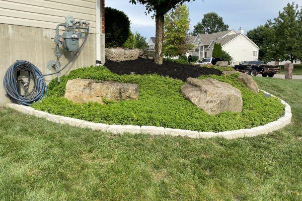 edge and mulch