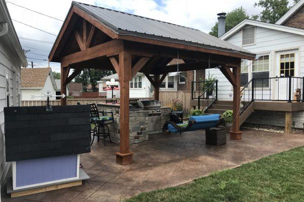 kitchen pavilion swing