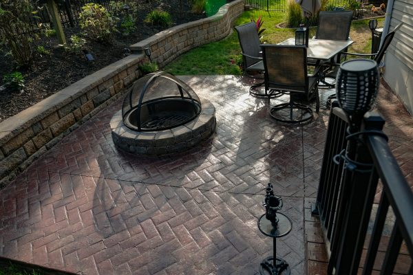 paver patio and fire pit